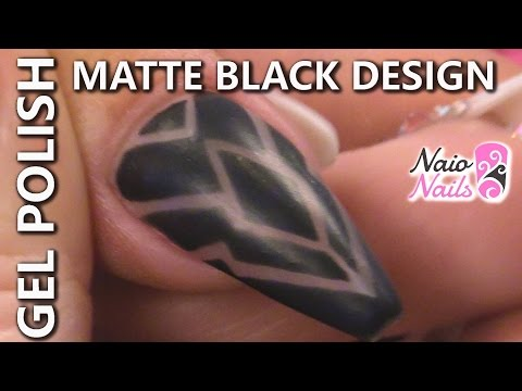 How to Create a Matte Black Design With Gel Polish