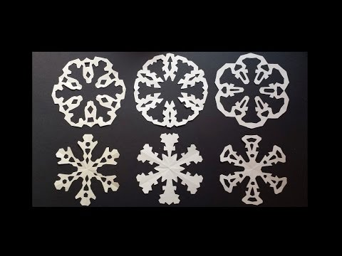 Paper snowflake designs - how to make paired snowflakes in one cut - EzyCraft