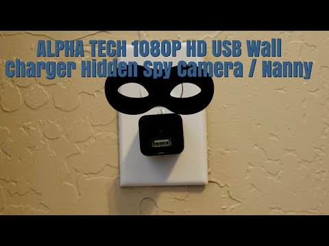 ALPHA TECH 1080P HD USB Wall Charger Hidden Spy Camera | Nanny Camera