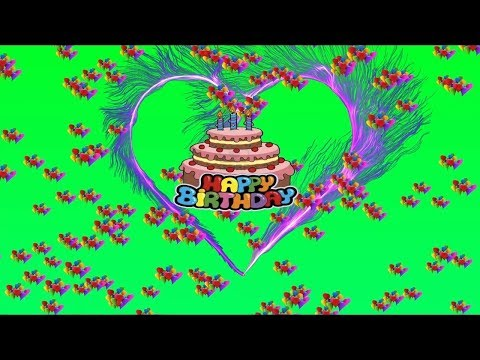 Happy Birthday Wishes Video || Green Screen Hearts Effects || Free Download