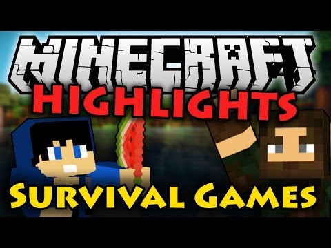 Minecraft Survival Games HIGHLIGHTS w/ Snacks (PC Gameplay Funtage)