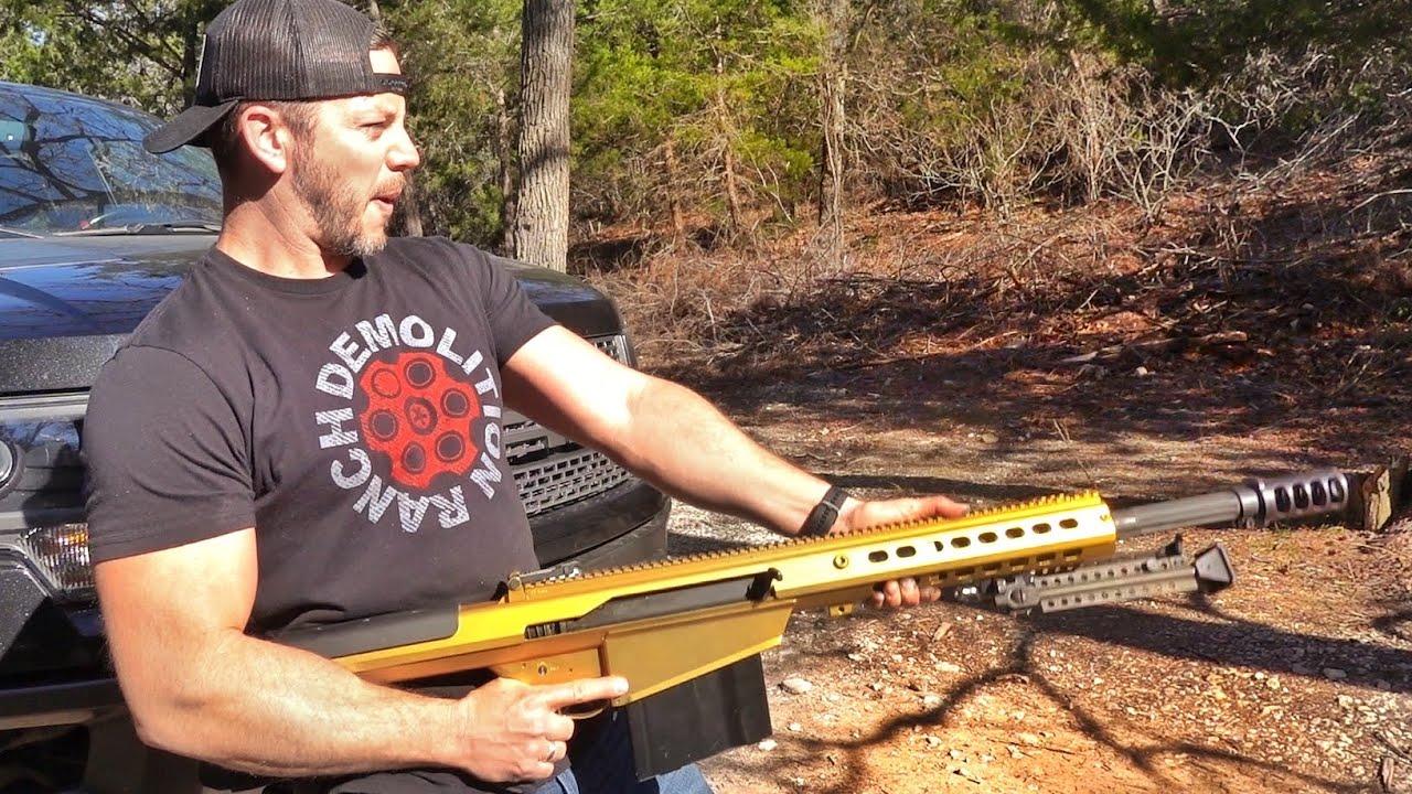 I Unlocked the Boss Gun... The Gold Barrett 50cal... And Shot my Raptor...