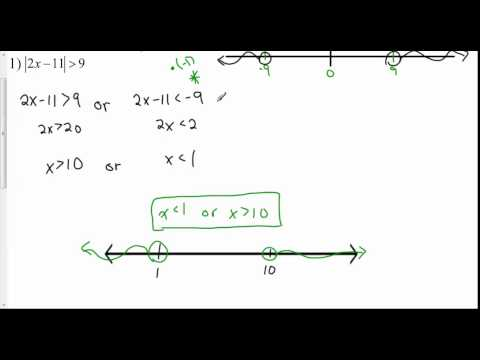 Lesson 1 2   Exercise Set #2 Absolute Value Inequalties