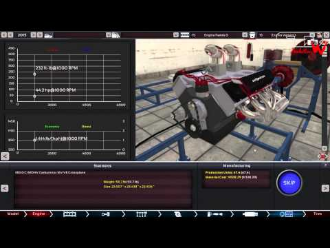 All Motor Chevy Small Block 383 Stroker Engine Build & Dyno | Automation The Car Company Tycoon