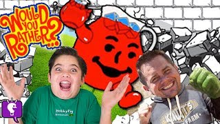 WOULD You RATHER? Family GAME Night! Funny Comedy Arguing Board Game HobbyKidsTV