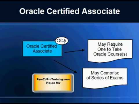 Oracle Certification Paths / Categories - Part 1 of 2