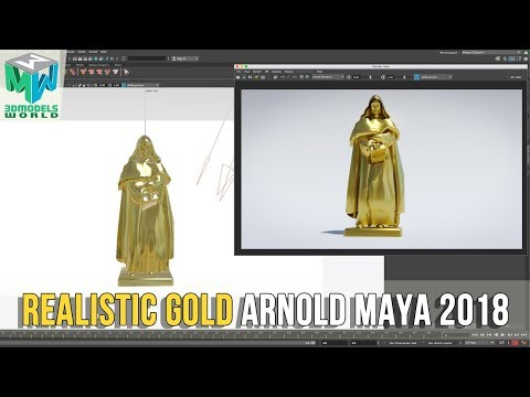 Xxx Mp4 How To Create Gold Metal Shader Using ARNOLD In Maya 2018 HDRI Lighting 3gp Sex