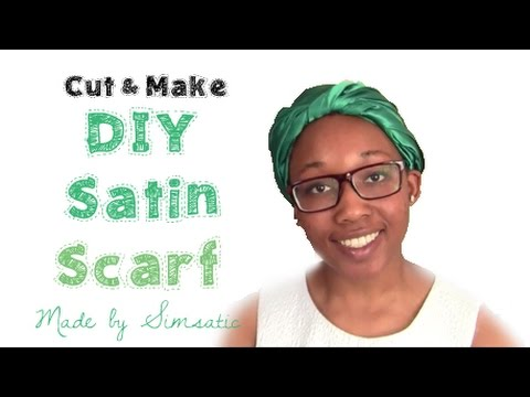 Easy DIY NO SEW Silk Satin Head Scarf | Head Wrap | Silk Bonnet | Cut and Make #5