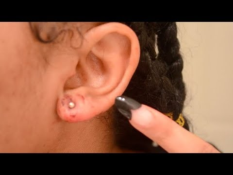 PIERCING MY EARS AT HOME