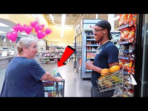 BUYING A RANDOM WOMAN GROCERY ! *HEARTTOUCHING*