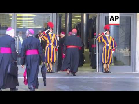 Pope meets cardinals on closing day of Synod