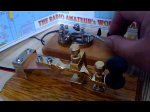 Brass Morse key