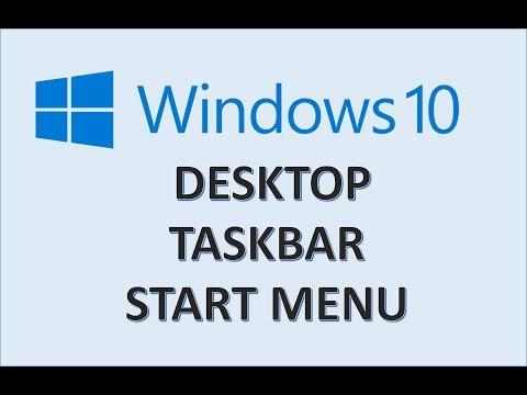 Windows 10 - Desktop, Taskbar, and Start Menu