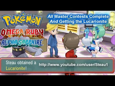 [Pokemon ORAS] All Master Contests Completed | How to get Lucarionite - Steau