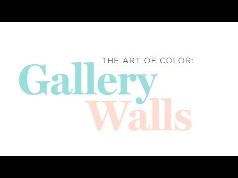 The Art of Color: 3 gallery walls / 3 ways