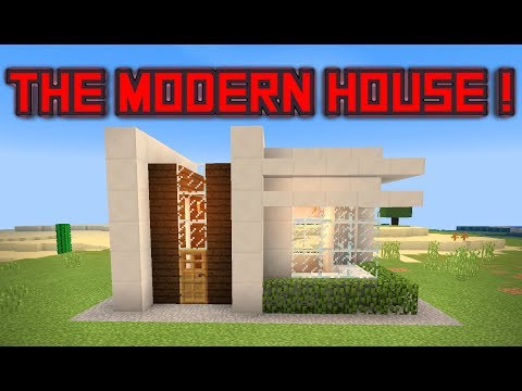 How to build a small modern house - Minecraft PE , PC