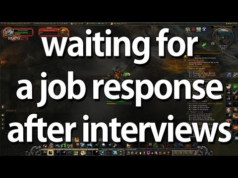 waiting for a job response after interviews