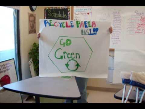 High School 1 Go Green Clean Up Team