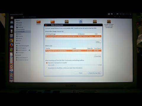การสร้าง USB Boot Stick ของ Ubuntu บน Ubuntu