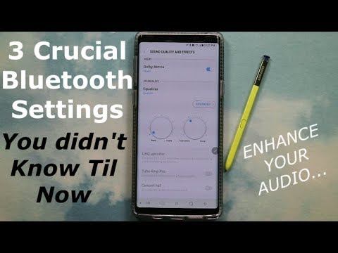 The 3 Crucial Bluetooth Settings - To Drastically Improve Sound