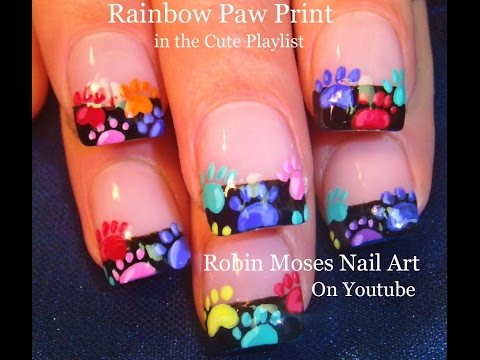 Nail Art | EASY Rainbow Animal Paw Print Nails Design Tutorial