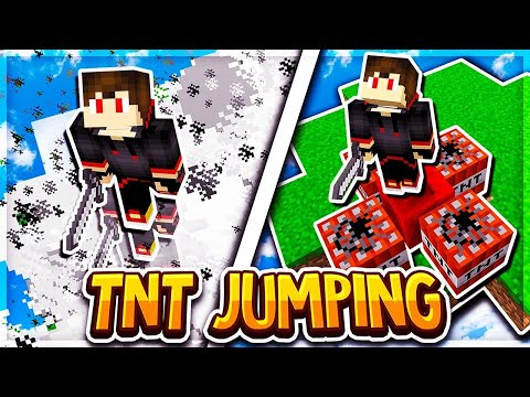 TNT JUMPING IN BEDWARS (Minecraft BEDWARS)