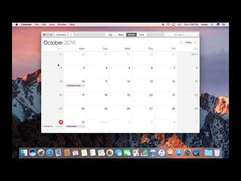 How to Set an Alert in Calendar on macOS