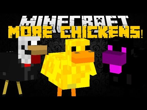 Minecraft: MO' CHICKENS MOD (Over 35 Chicken Mobs with Special Abilities) Mod Showcase