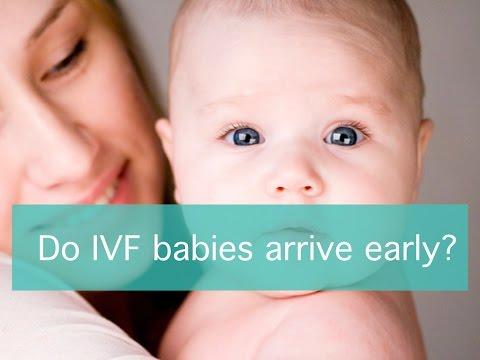 Do IVF babies arrive early?