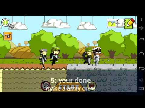 Scribblenauts remix how to make a army guy easy!