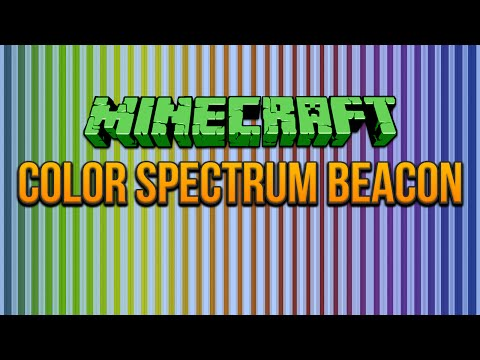Color Spectrum Beacon Minecraft 1.8 Tutorial