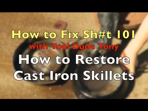 How to Restore Rusty Cast Iron Skillets and Dutch Ovens