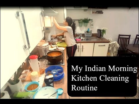 Morning Indian Kitchen Cleaning Routine||Indian Kitchen Cleaning Motivation||Speed Cleaning