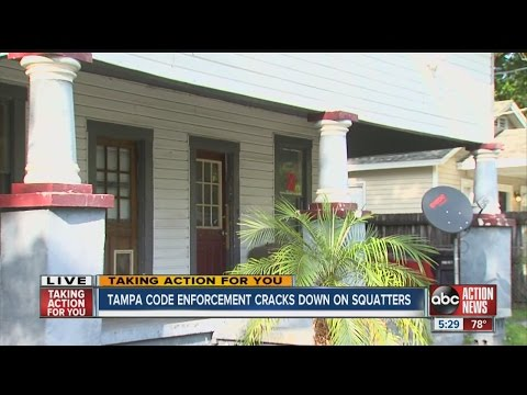 Taking Action:  Tampa code enforcement cracks down on squatters