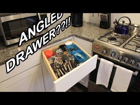 Crazy Angled Kitchen Drawer!