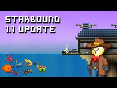 Starbound 1.1 Update | Fishing, Relocator, Novakids Village & Other Changes