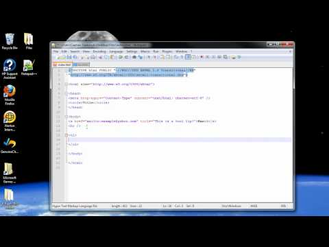 XHTML Tutorial 4 - Email, Tool Tips, Horizontal Rule, Lists