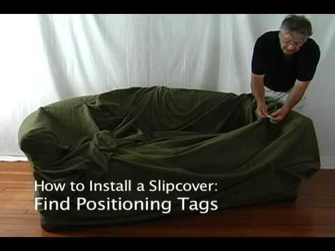 How to Install a Slipcover on a Small Sofa • stretchandcover.com