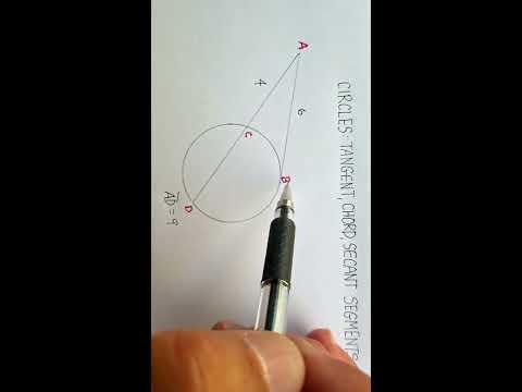 Circles: Tangent, Chord, Secant Segments