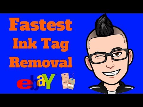 How To Remove Ink Tags From Clothing    FASTEST WAY ;)