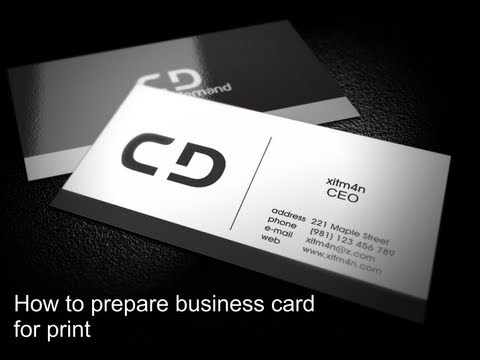 Preparing business card for print in Corel Draw X6