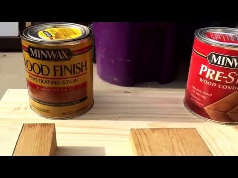 Staining Pine, Birch, Adler and other light woods that are blotchy. Minwax pre stain conditioner.