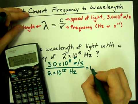 How to Convert Frequency to Wavelength