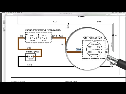 Use the electrical library with the wiring diagram - Understanding Land Rover wiring diagrams