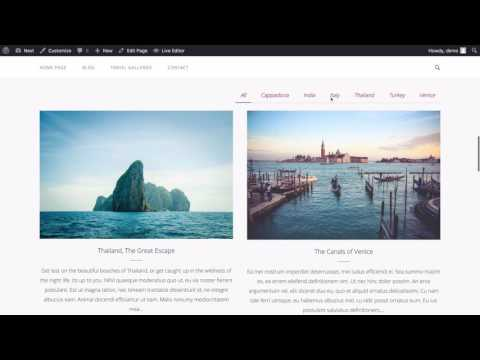 Next - A Free Prebuilt Travel Blog using WordPress