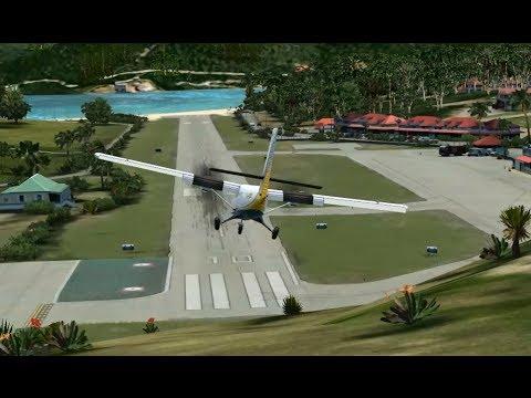 FSX - Crash Landing St Barts Runway Overrun MUST SEE!