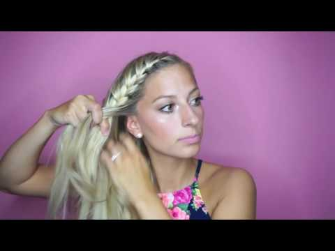 How To: Easy Pancaked Side French Braid