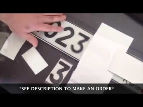 Speed Red Light Camera Invisible Licence Plate Hider