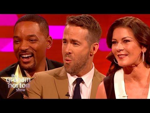 Will Smith Ryan Reynolds And Catherine Zeta Jones Talk Accents The Gr