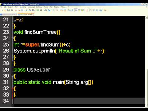 Use of Super Keyword in Java Programming (In Hindi)